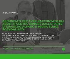 Denunciati per aver raccontato abusi in centro minori: dalla parte di Maurizio Alfano e Maria Elena Scandaliato